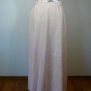 Lauren Ralph Lauren Full Length Pink Linen Skirt